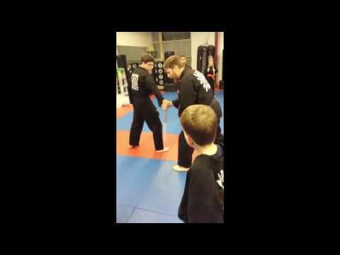 Stick Disarm from Back Hand Head Strike