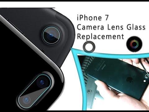 iPhone 7 Camera Lens Glass Replacement Tutorial / Scambio di una diapositiva della telecamera rotta