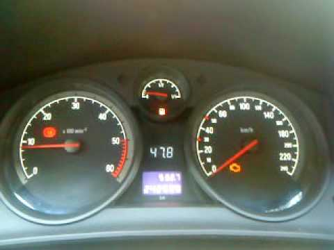 Astra H dashboard temperature/voltmeter gauge