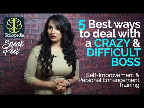 How I survived a Difficult & Crazy Boss? Self-Improvement & Personality Development Video