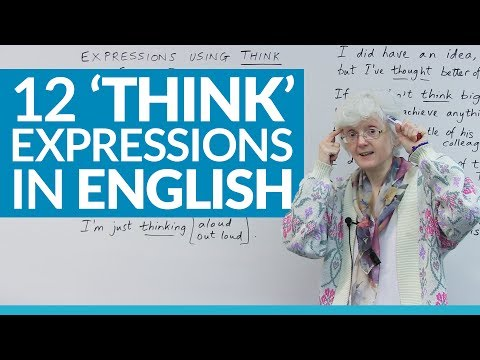 12 English expressions using 'THINK'