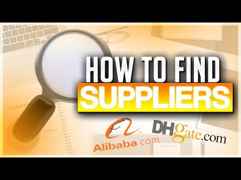 HOW TO FIND SUPPLIERS FOR AMAZON FBA WITH DHGATE AND ALIBABA
