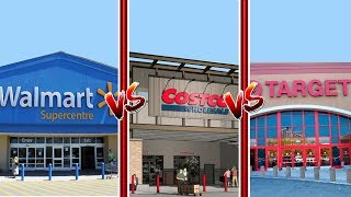 Minecraft Versus - WALMART, COSTCO AND TARGET - BATTLE OF THE GROCERY STORES