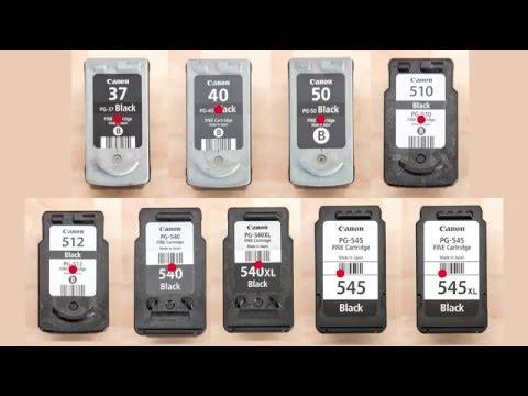 Canon Black Inkjet Cartridges: Refill Instructions PG-540 PG-540xl PG-545 PG-545xl PG-40 PG-50 PG-37