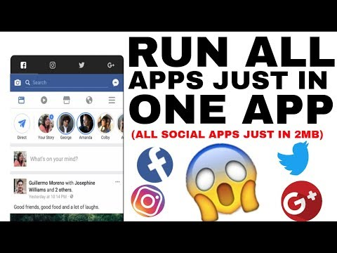 RUN ALL APPS JUST IN ONE APP ||USE ALL APPS IN JUST 2Mb||HOW TO USE ALL APPS IF YOU HAVE NO STORAGE