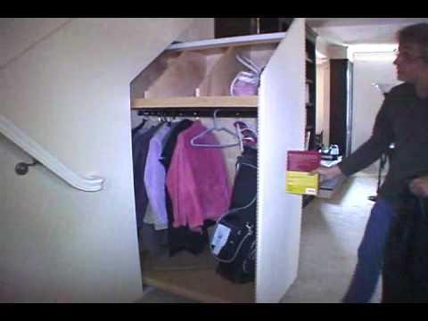 Under stairs hidden closet