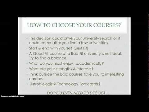 Tutorial-Choosing a Course
