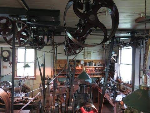 OLD STEAM POWERED MACHINE SHOP 39  oversize steam engine piston
