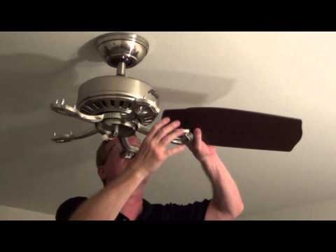 Installing a Ceiling Fan - Ceiling Fan With Light - Ball and Socket Style