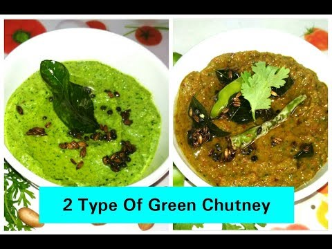 Special 2 Type Of Green Chutney/No Onion/No Coconut/No Mint/Chutney For All Indian Snacks