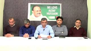 Video Briefing of Co ordination Committee of MQM held at Int
