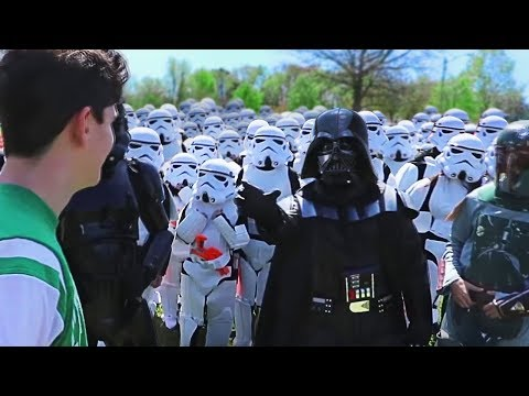 Marching Around My City With 100 StormTroopers