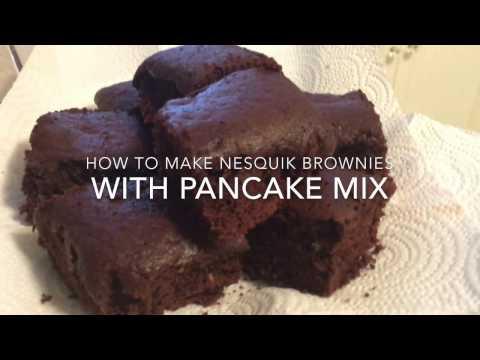 How To Make A NESQUIK Brownie With Pancake Mix (no Flour, No Sugar, No Salt, Nothing)