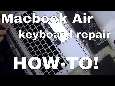 Macbook Air A1369 A1466 Keyboard Repair & Replacement - how-to step by step guide