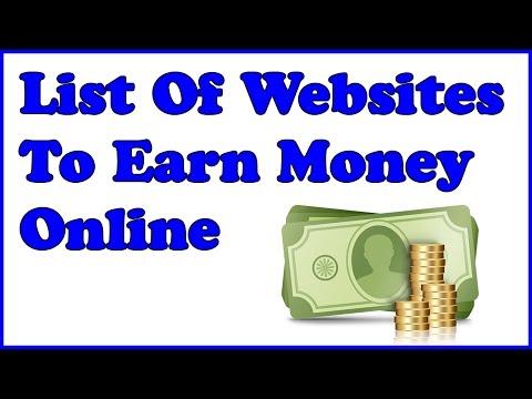 List Of Websites To Earn Money Online