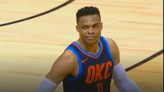 Russell Westbrook Stares Down Raptors Crowd After Taking Over & Ending Their Winning Streak!