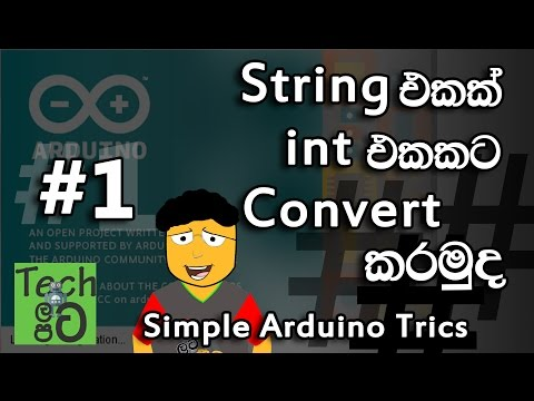 How to Convert String to Int in Arduino sinhalen   Tech latapata - Simple Arduino