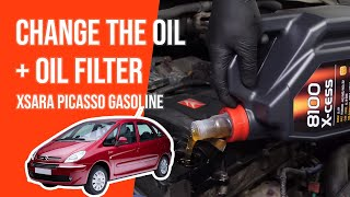 Change the oil and the oil filter XSARA PICASSO 1.6i 🛢