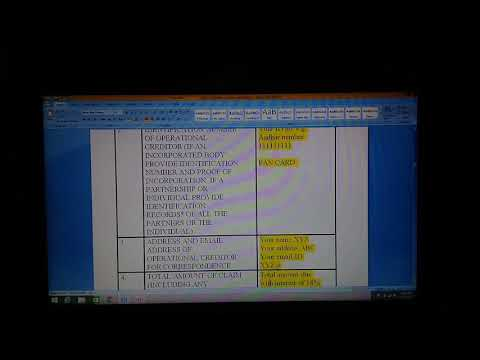 How to fill schedule B & C of Jaypee Infratech Insolvency case. Part 1