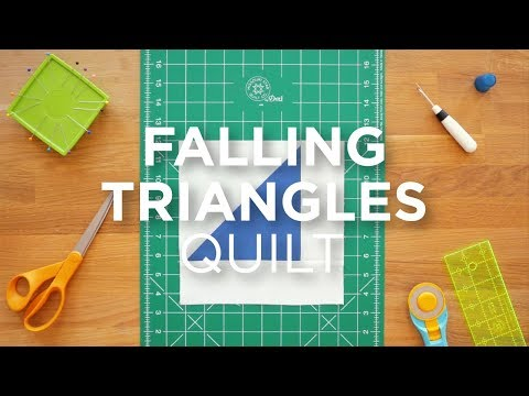 Quilt Snips Mini Tutorial - Falling Triangles