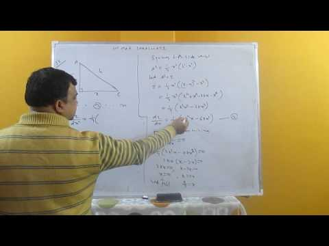 The sum of length of hypotenuse and a side of a right angled triangle is given...