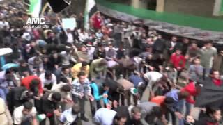 """#x202b;أغنية """"حر حر حرية"""" بصوت القاشوش في حي بستان القصر 15 3 2013#x202c;lrm;"""