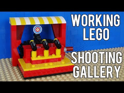 How To Build A Working Lego Shooting Gallery Game