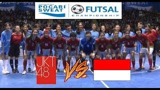 KOCAK!!! Futsal JKT48 VS Indonesia Woman All Star @Pocari Sweat Futsal Championship 2017