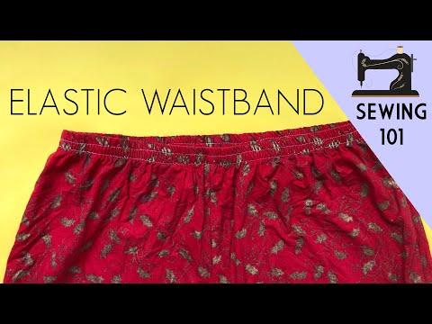 How To Sew An Elastic Waistband / Cara Jahit Getah Pinggang