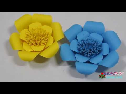 How to make a paper flowers | Paper flower folding | Flower origami | flower for wedding decoration