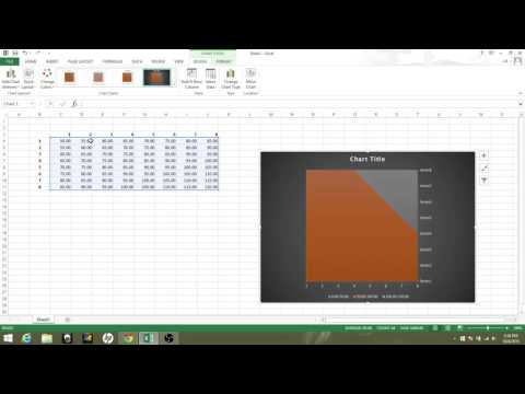 1:  How to make a basic contour map on excel