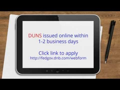 Applying for DUNS