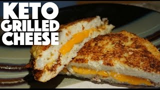 Keto Cauliflower Grilled Cheese - ketogenic diet dinner recipes - meal prep - sandwich - low carb