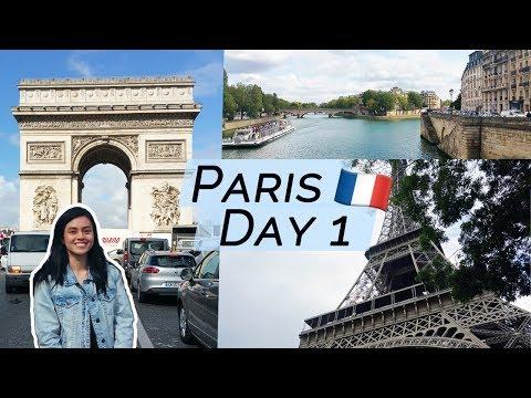 Day 1 in PARIS! | Eiffel Tower, Arc de Triomphe, Notre Dame, Louvre