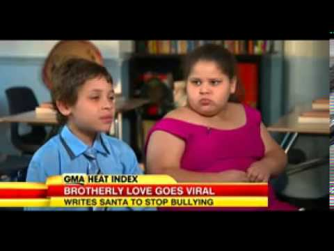 Bullied girl, 8, whose twin brother wrote to Santa asking for help gets his wish
