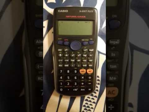 Calculator degrees radians conversion casio fx-83GT PLUS