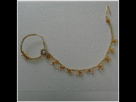 How to Make Simple Bri Nose Ring/Mukkera at Home Tutorial../Bahubali 2 Anuskha Jewellery
