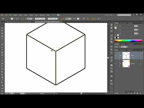 Illustrator tutorial:  Drawing an orthogonal cube with the Line tool | lynda.com