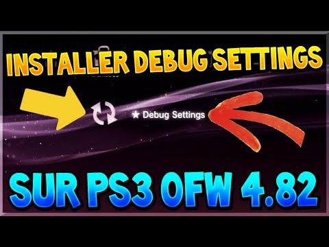AVOIR LES DEBUG SETTINGS SUR PS3 OFW (ULTRA SLIM/SLIM) EN 4.82/4.81 (PS3XPLOIT DEBUG SETTINGS)