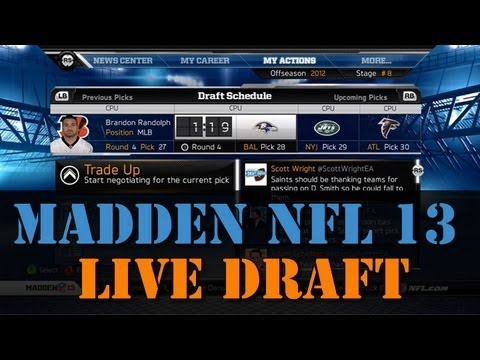 Madden 13: Connected Career Draft