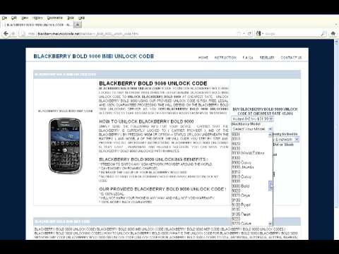 How to enter blackberry 9780 unlock code -