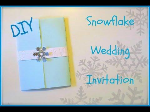 ❄️How to Make: DIY Snowflake Wedding Invitation!❄️