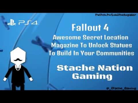 Fallout 4 - Awesome Secret Location - Magazine To Unlock Statues To Build In Your Communities