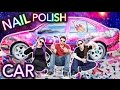 Painting A Car With Nail Polish Ft Threadbanger