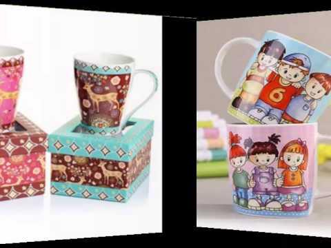 Handmade Creative Ceramic Mug Ideas | Colorful Decorating Picture Set Of Ceramic Arts