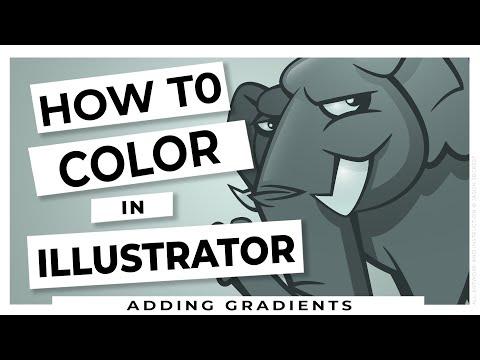 Adobe Illustrator Coloring Tutorial using Gradients