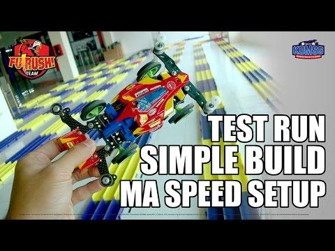 Mini 4WD MA Simple Build Speed Setup - Test Run