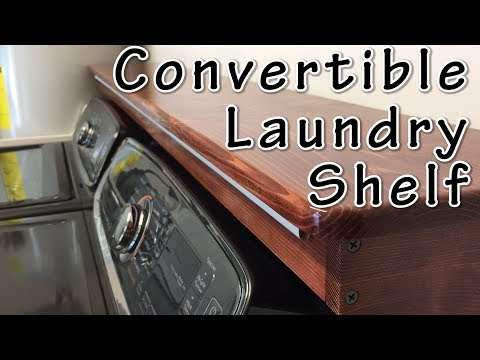 Convertible Laundry Shelf