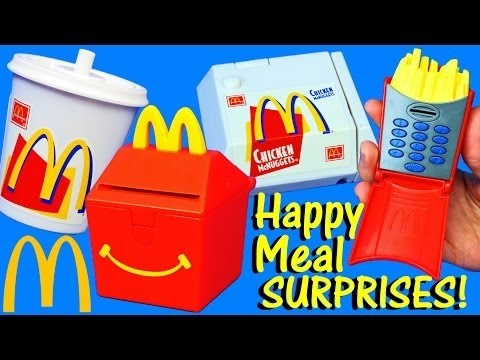 McDonalds Happy Meal Toys Surprise French Fries, Burgers & Chicken Nuggets into Toys DisneyCarToys