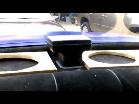 89 Caprice rear deck four 6x9 and new edition 96 Impala SS Pt 1